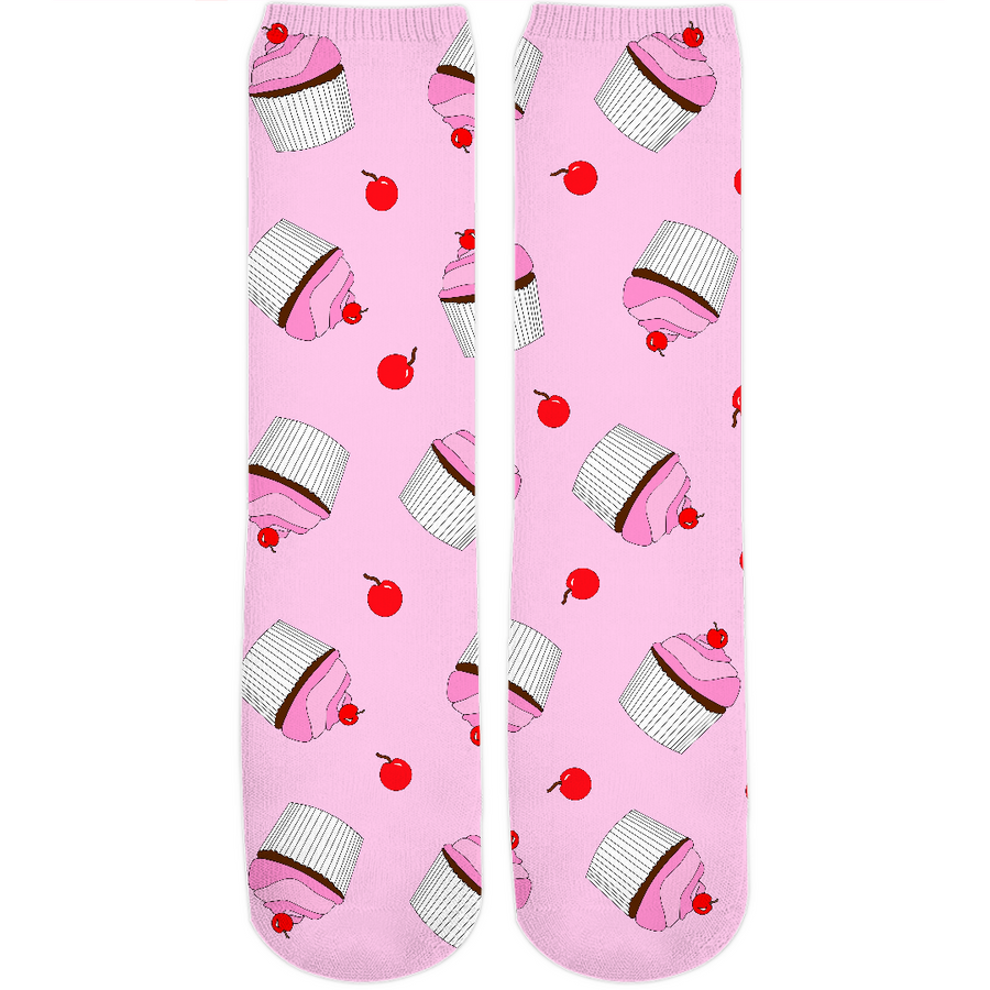 Cherries On Top Crew Socks