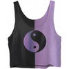 Yin And Yang Purple Crop Top