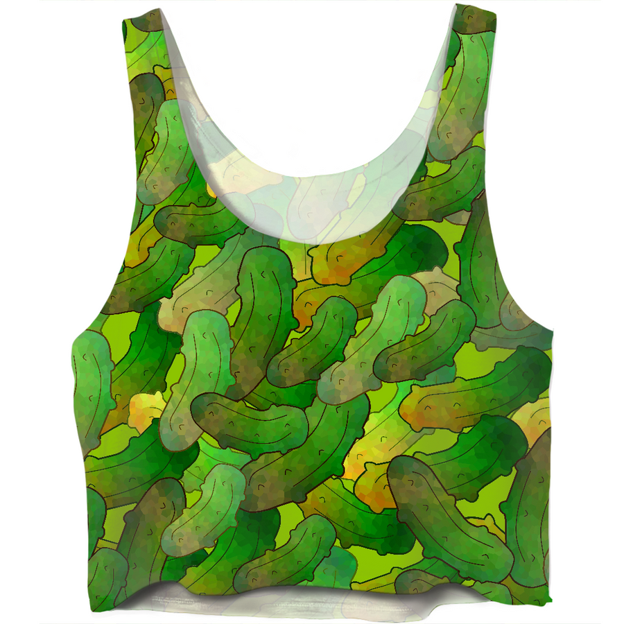 Dill Pickles Crop Top