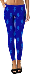 Light Blue Lightning Bolts Leggings