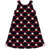vampire repeat pattern kids dress