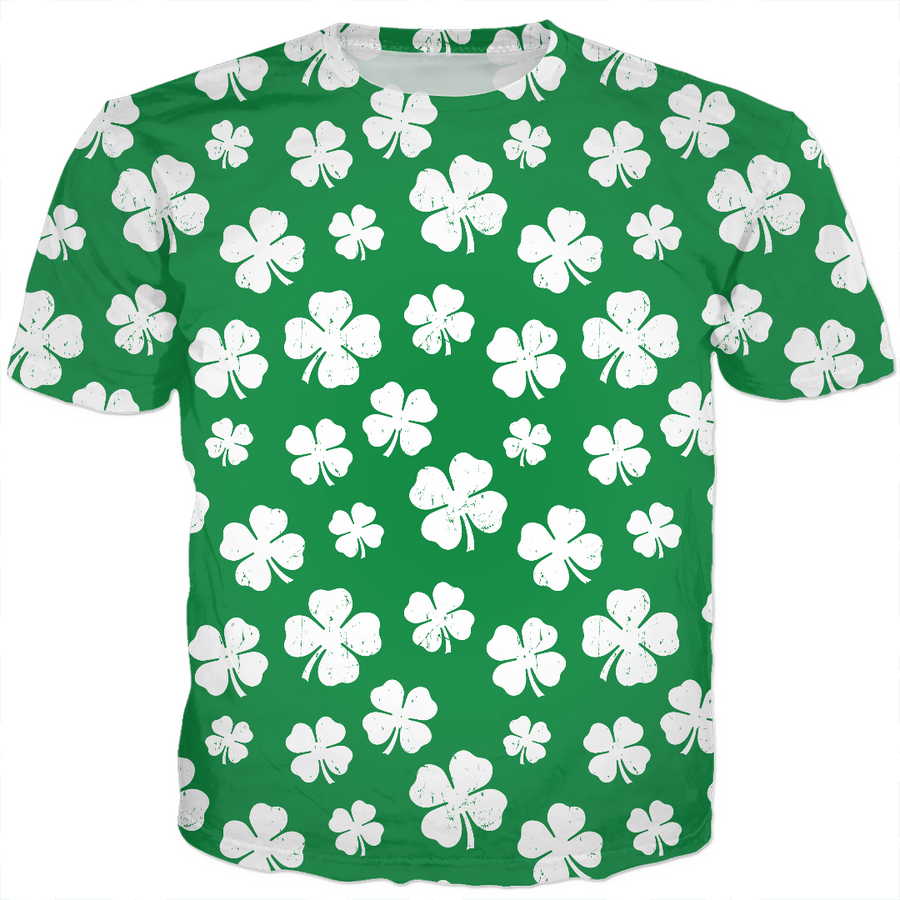 St. Paddy's Day Shamrock Pattern T-Shirt