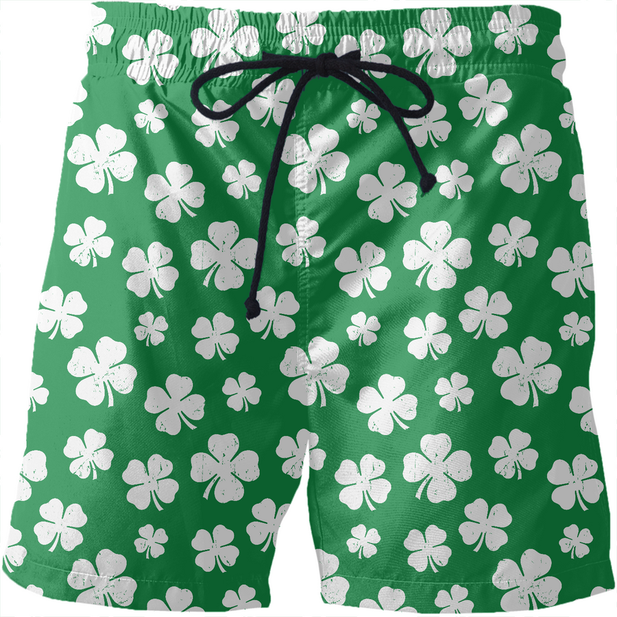 St. Paddy's Day Shamrock Swim Shorts