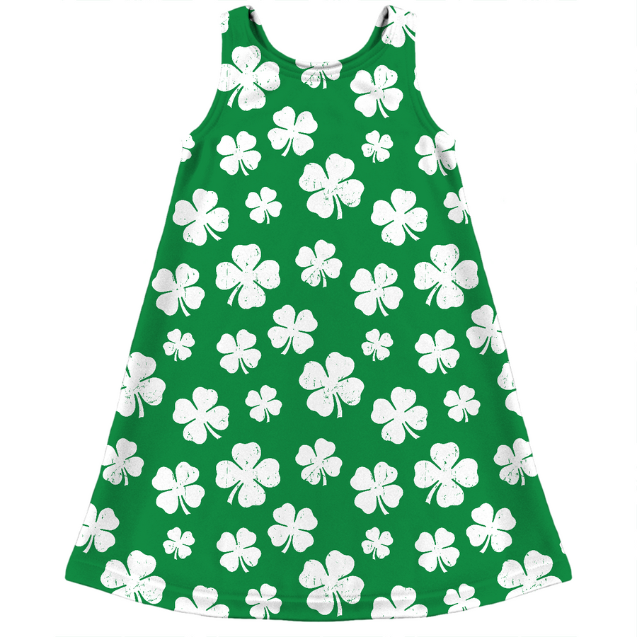 St. Paddy's Day Shamrock Kids Dress