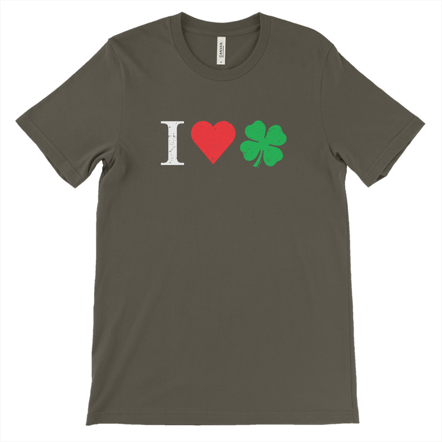 I Love Irish Shamrocks St. Paddy's Day T-Shirt