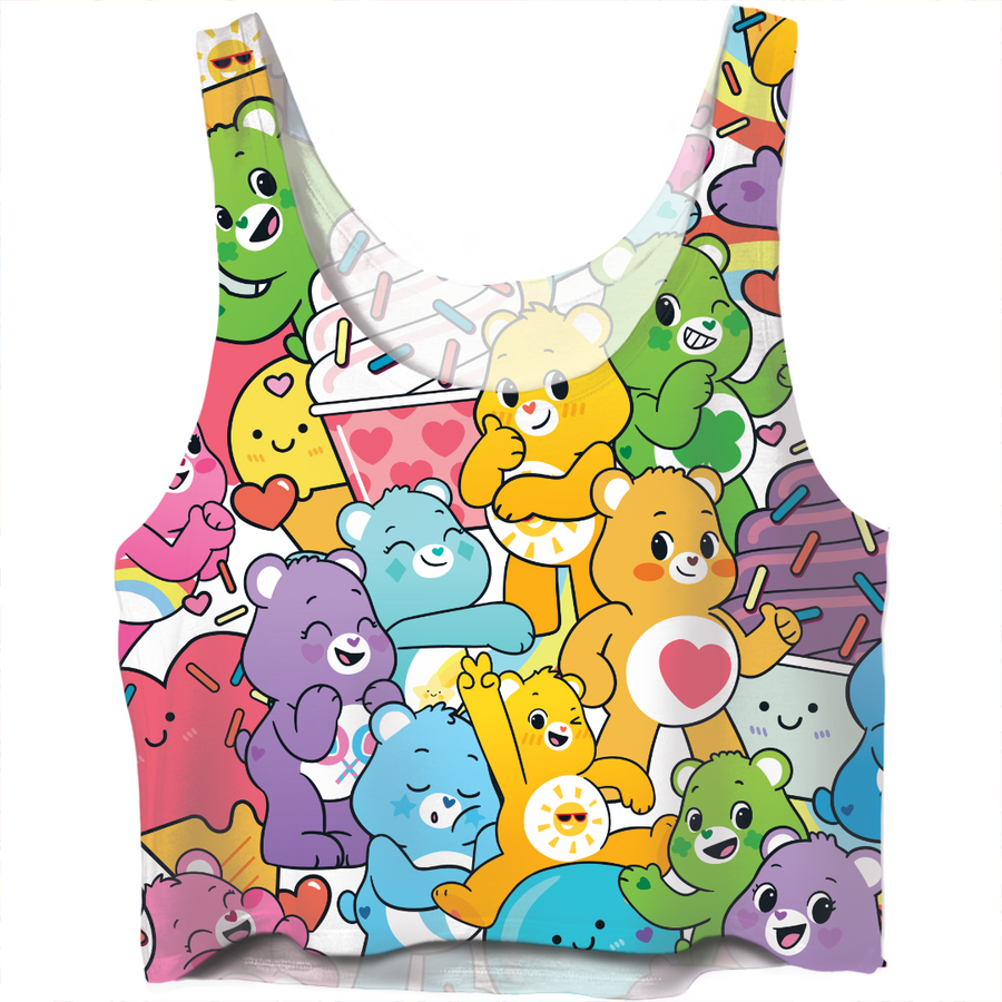 Care Bears Ice Cream Party Crop Top