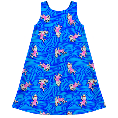 ballerina sharks kids dress