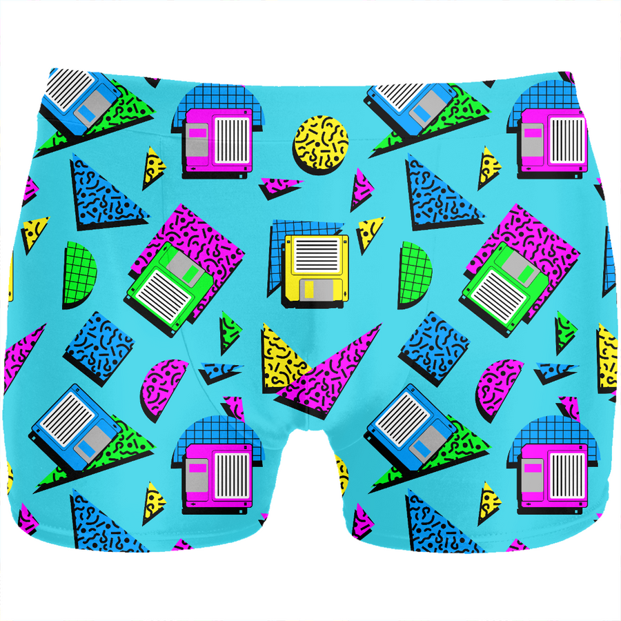 80s retro floppy disc boxers