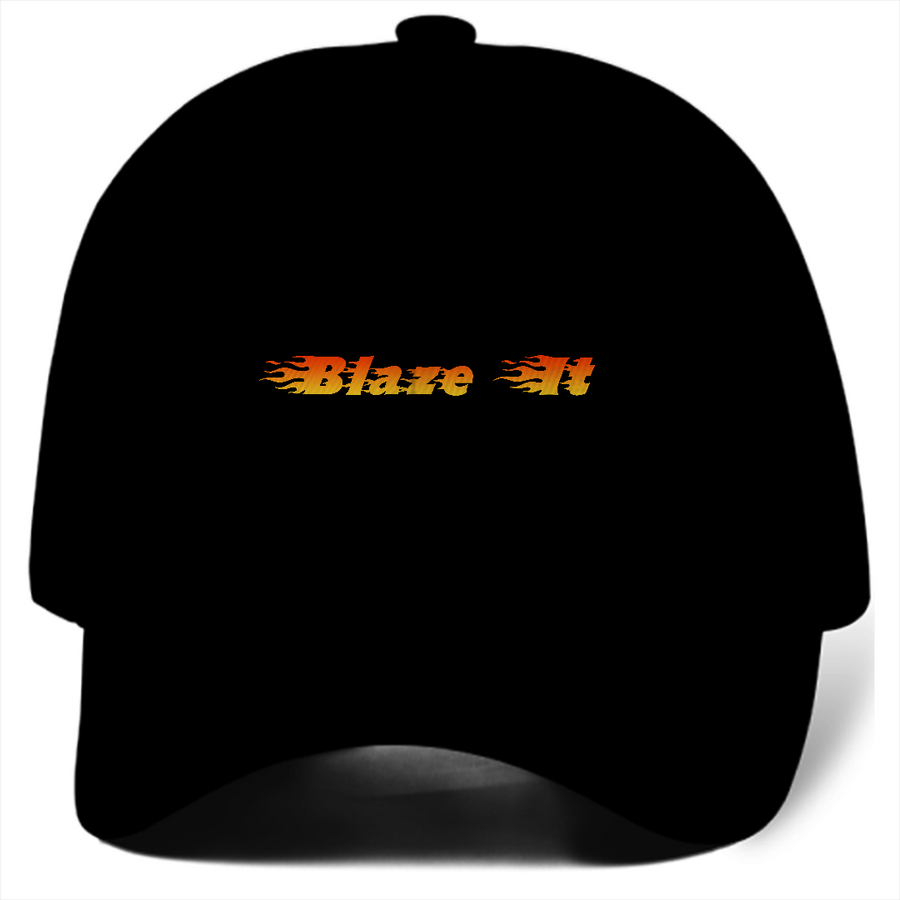 Blaze It 420 Flams Black Dad Hat