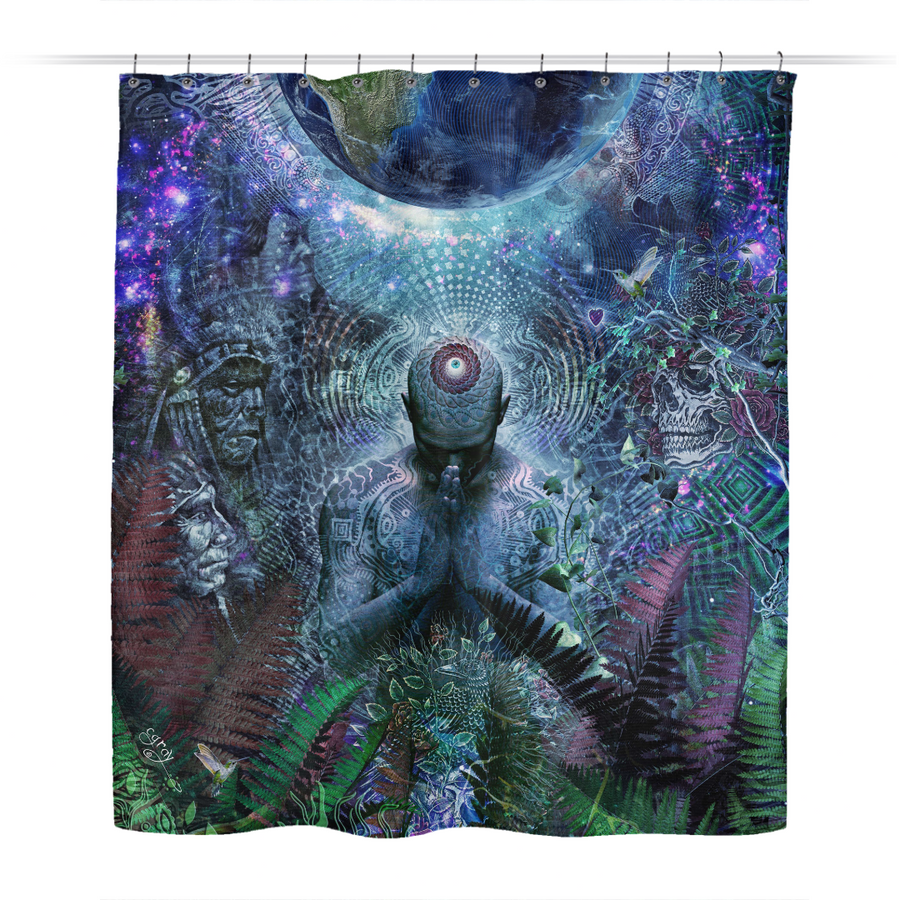 Gratitude For The Earth And Sky - Shower Curtain