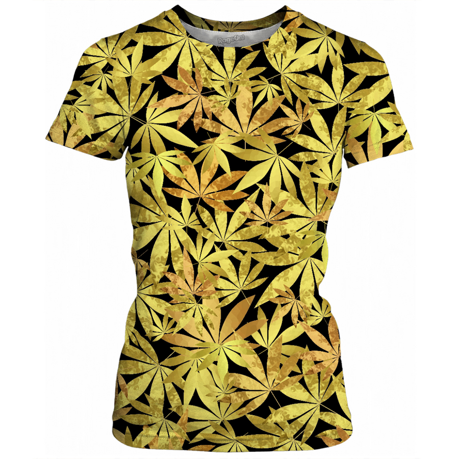 Gold Weed Womens T-Shirt