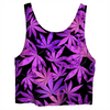 Purple Weed Crop Top