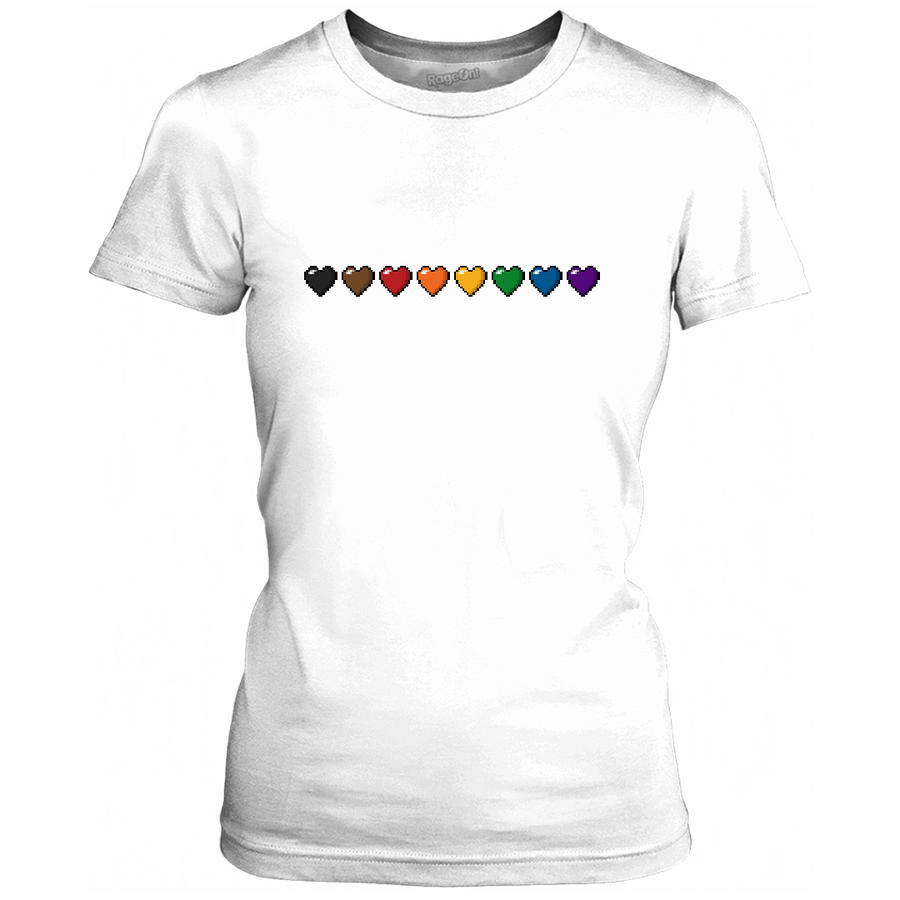 Inclusive Rainbow Pixel Hearts