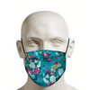 Blue summer garden mask