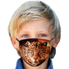 Leopard and Red Moon Kids Face Mask