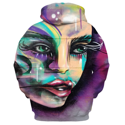 Colourful graffiti face