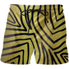 Black And Gold Zebra Stripes Swim Shorts