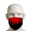 Red Drip on Black Face Mask