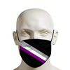 Asexual Pride Diagonal Stripe on Black Face Mask