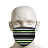 Agender Pride Flag Horizontal Stripe Face Mask
