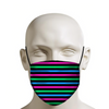 Polysexual Pride Flag Horizontal Stripe Face Mask