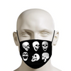 Collection of Laughing Skulls Face Mask