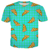 leopard print pizza slice allover print shirt, by b0rwear
