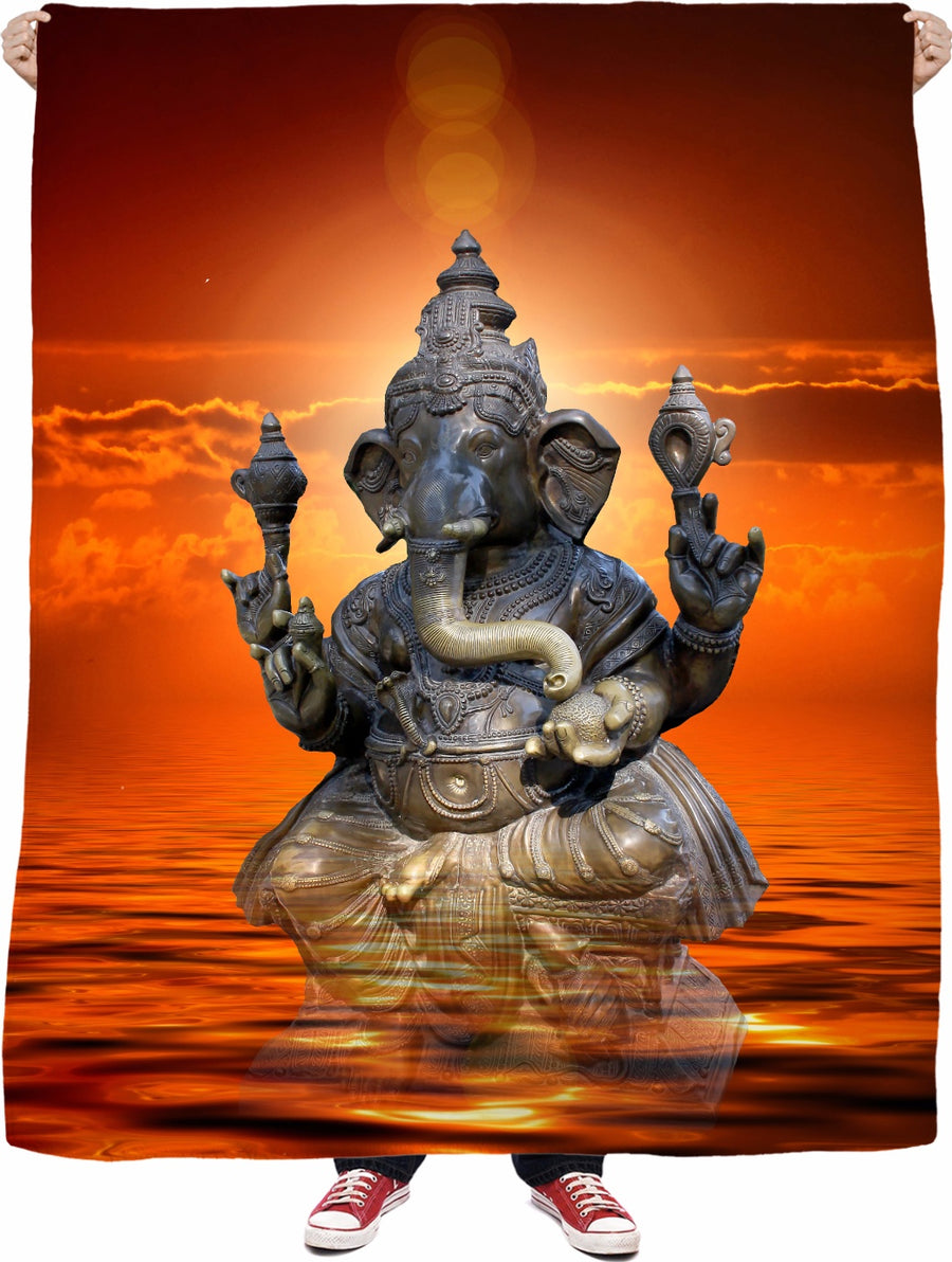 Elephant Ganesha Fleece Blanket