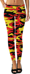 Red & Yellow Camo Game Day Leggings