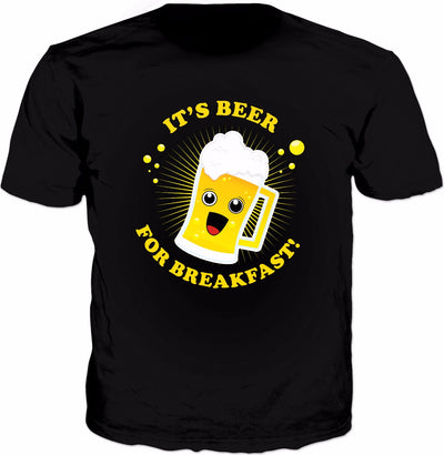 Beer For Breakfast T-Shirt - Funny Alcohol Drinking Drunk