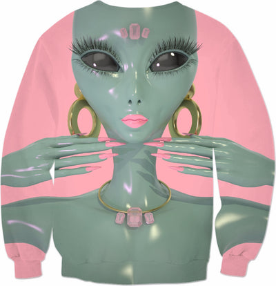 Hybrid Princess Allover Sweatshirt