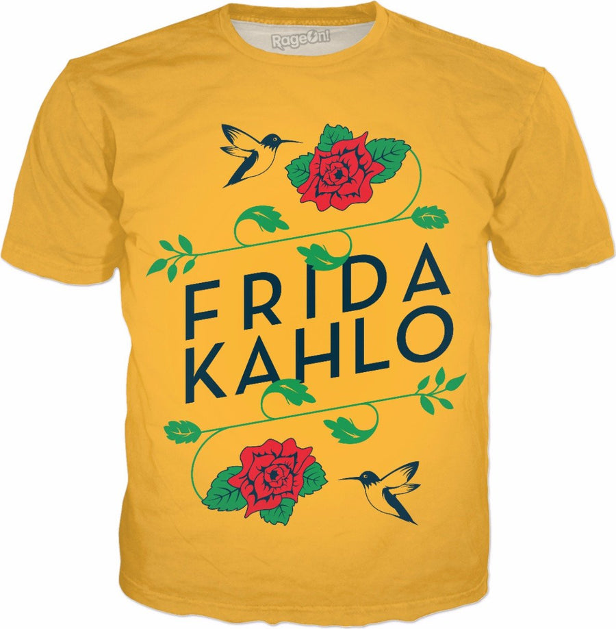 Frida Kahlo Birds & Roses Yellow T-Shirt