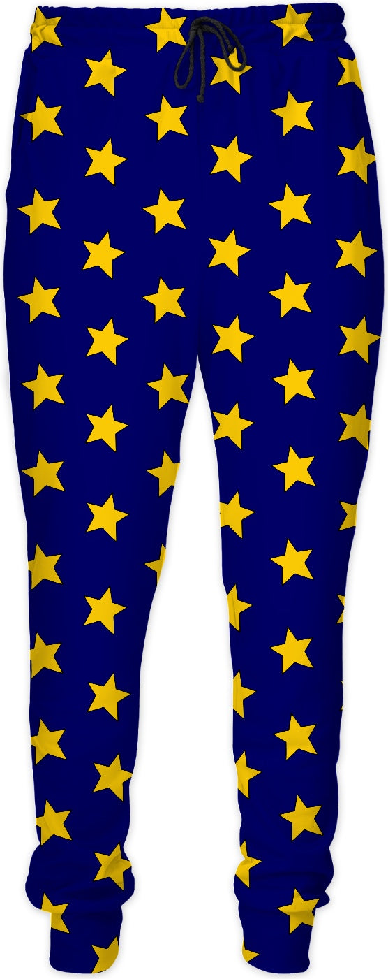 Yellow Stars Blue Joggers