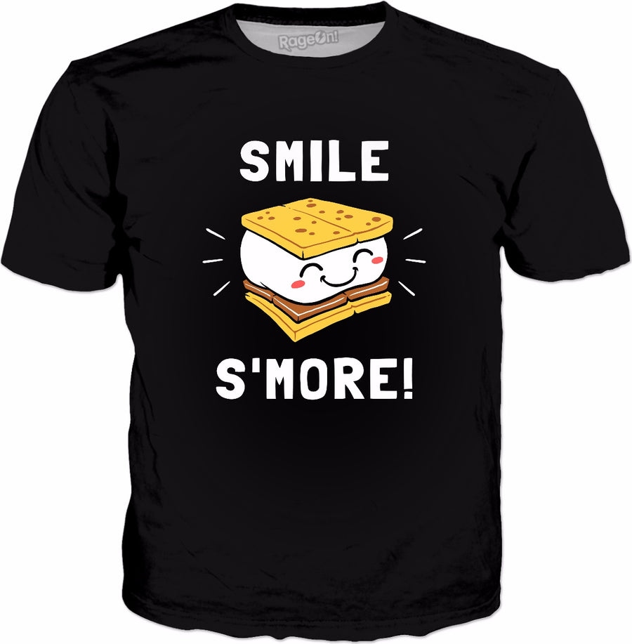 Smile S'more T-Shirt - Cute Marshmallow Camping