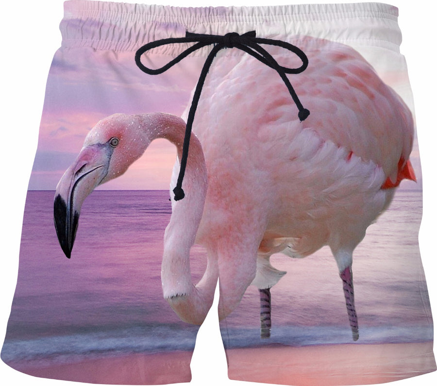 Flamingo and Pink Sky Swim Shorts
