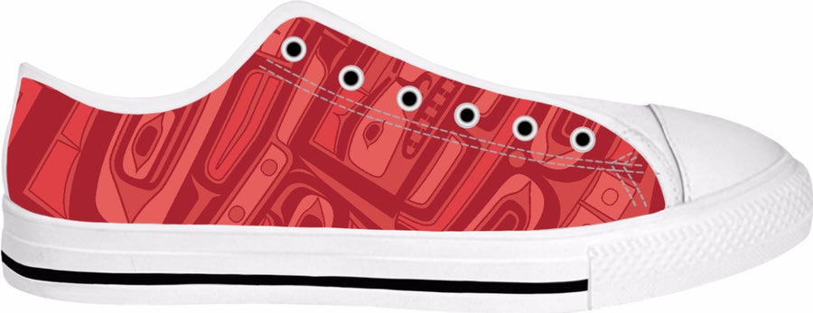 Red Coral Chilkat Hightops