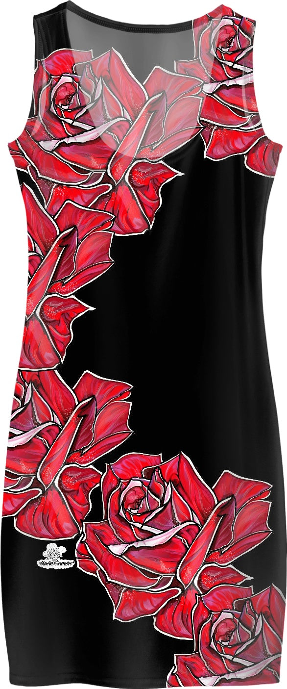 Roses for the Ladies Body Con Dress