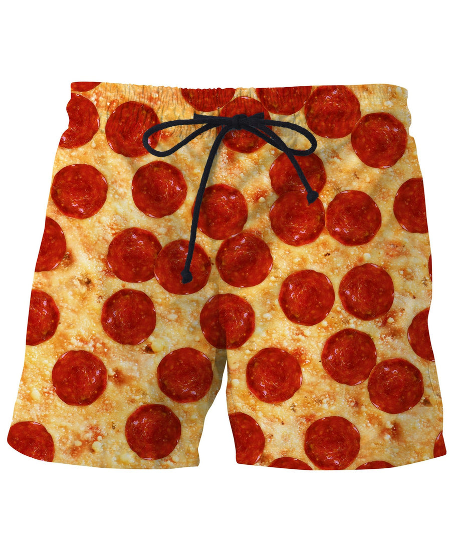 Pizza Swim Trunks
