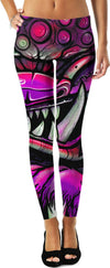 graffiti guardian sacred foo dog god leggings