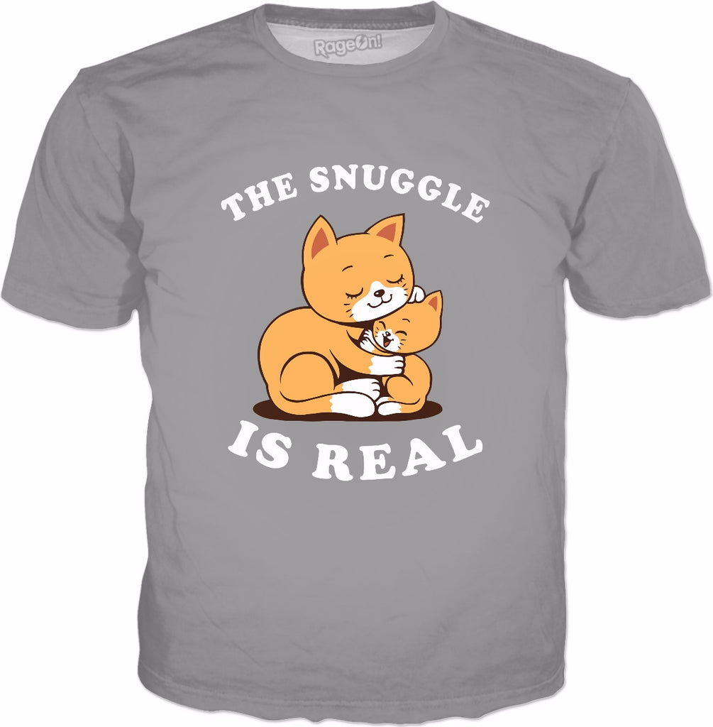 The Snuggle Is Real T-Shirt - Cute Cat Kitten Struggle