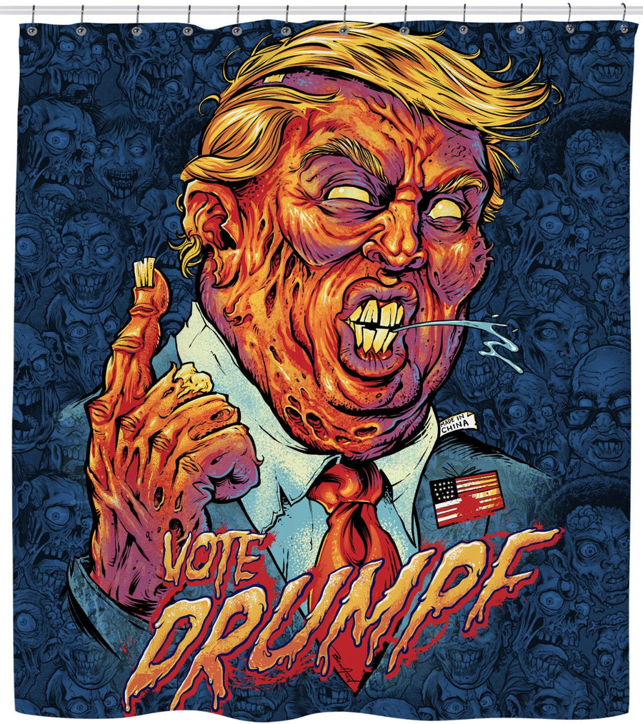 Donald Trump Zombie Shower Curtain
