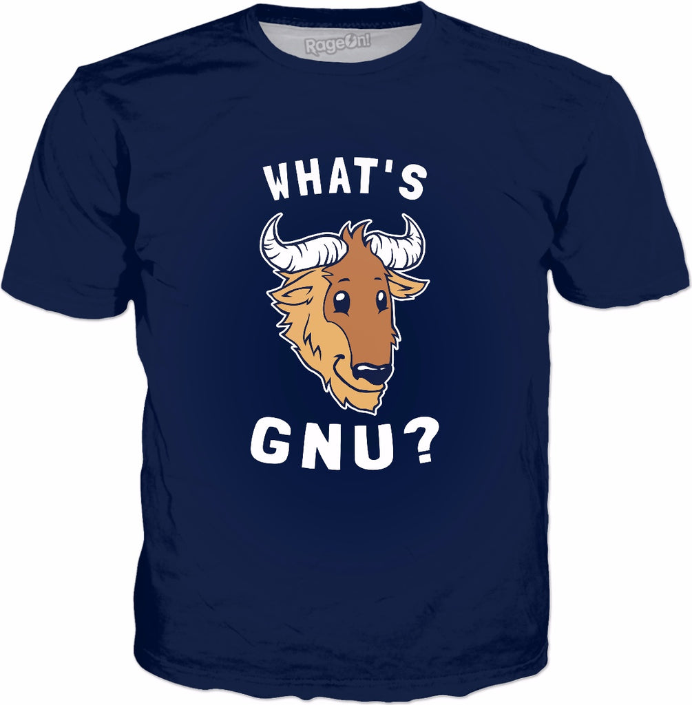 What's Gnu T-Shirt - Funny Wildebeest Animal Pun