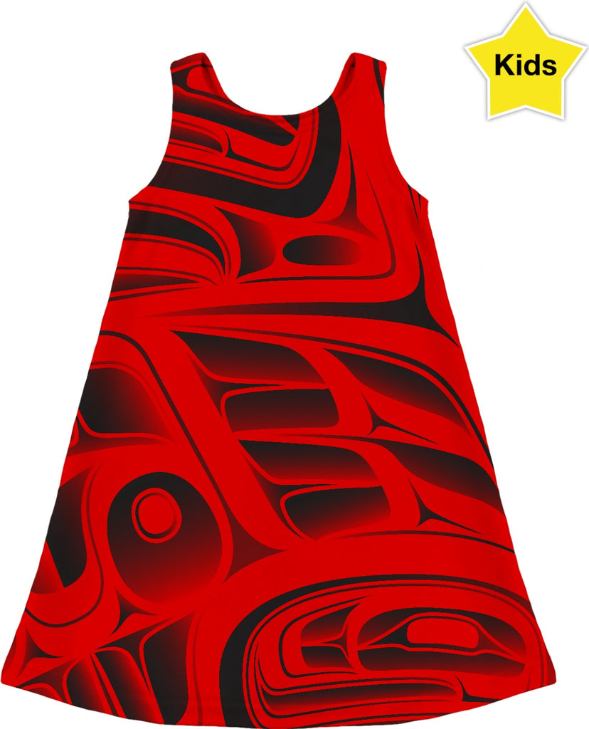 Girls Dress 3-12 Years Young Red Formline
