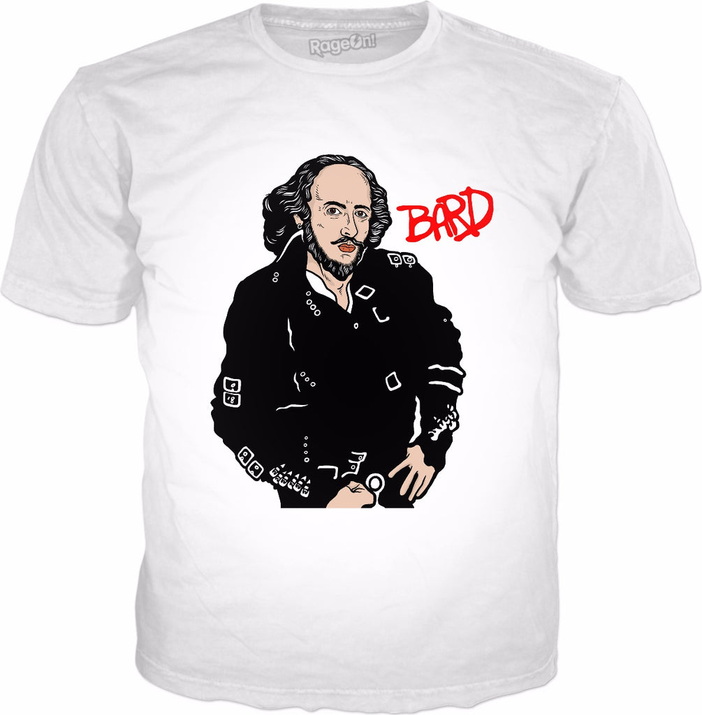 Bard Shakespeare T-Shirt - William Shakespeare Parody Cover