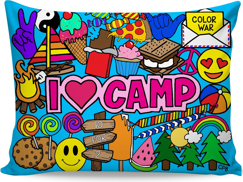 I Love Camp Pillowcase