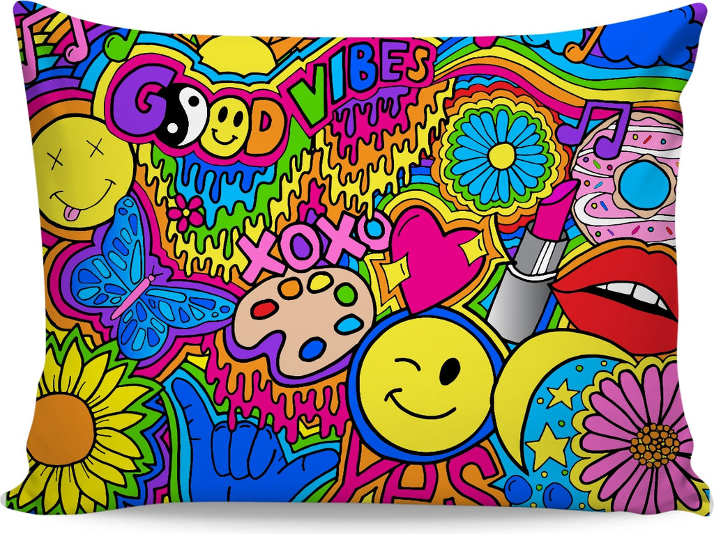 Hippie Good Vibes Pillowcase