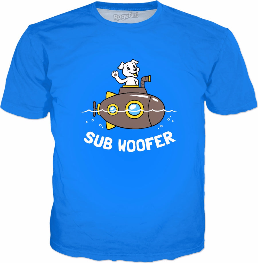 Sub Woofer T-Shirt - Funny Dog Submarine Joke