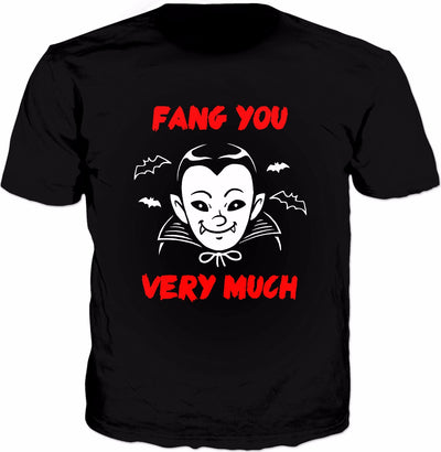 Fang You Very Much T-Shirt - Vampire Funny Saying Halloween