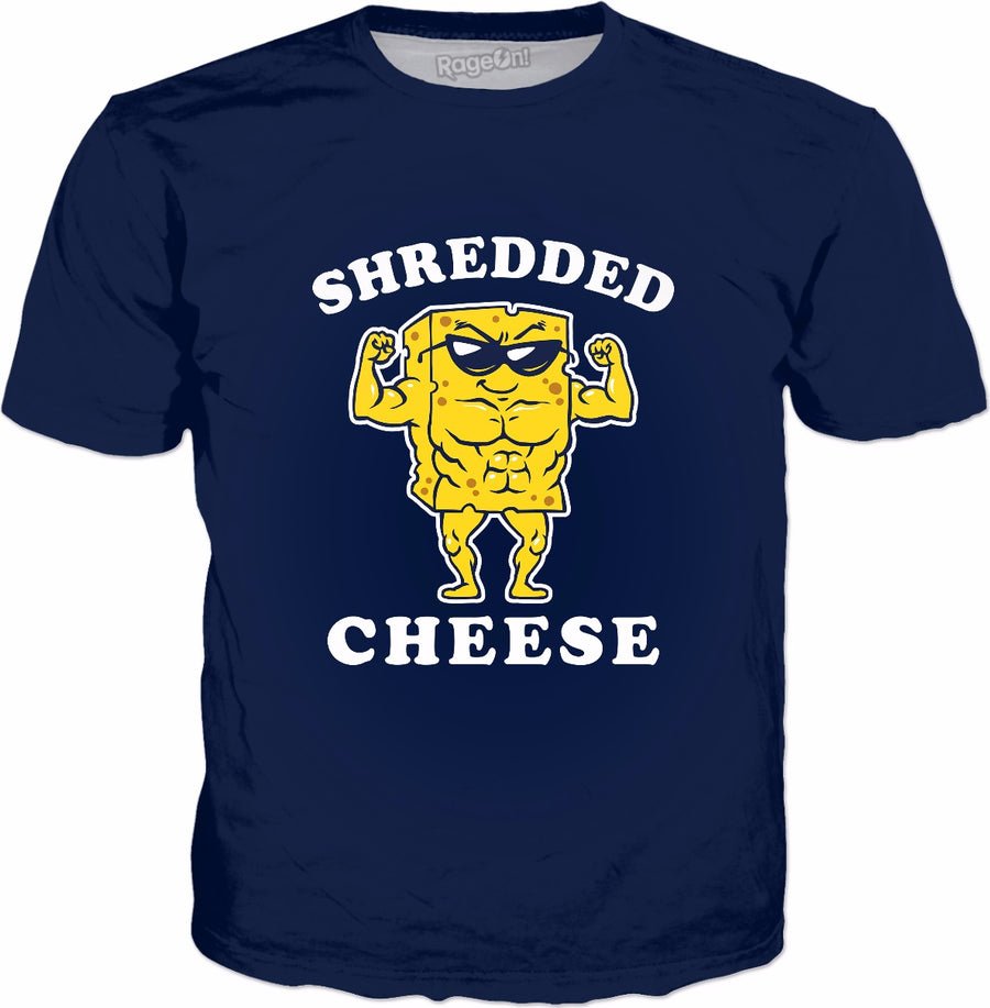 Shredded Cheese T-Shirt - Funny Gym Fitness Lifting