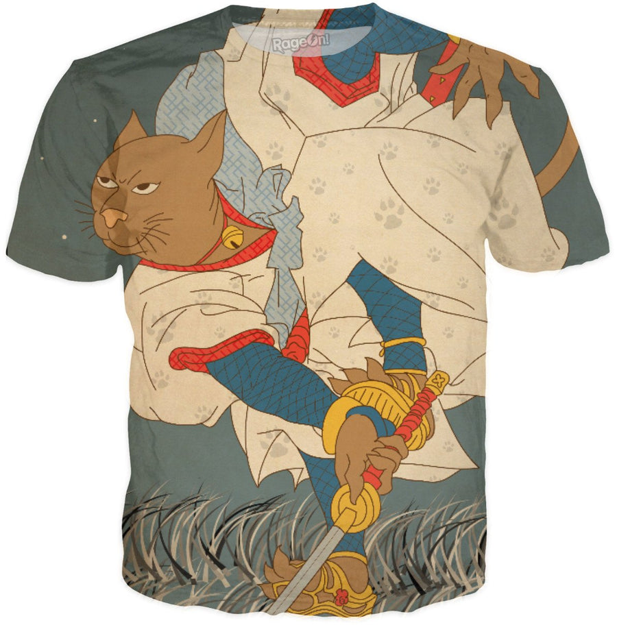 Ukiyo-e pizza cats Speedy